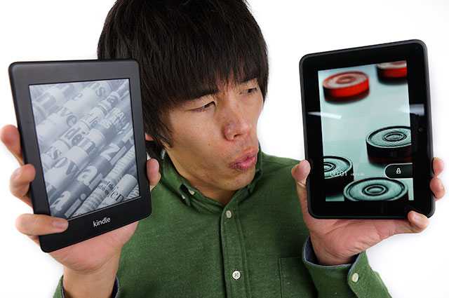 Kindle PaperwhiteとKindle Fire HDの違いを教えましょう!