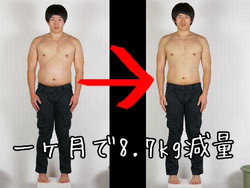 ダイエットブログ1ヶ月で8.7kg減量
