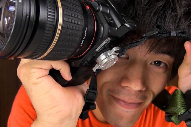 C-Loopで一眼レフカメラの撮影はもっと便利に、アルミ削り出しのストラップマウント