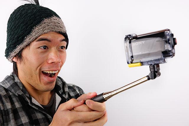 見た目は変でも超便利!xshotを使えばカメラで全体撮影できちゃいます!