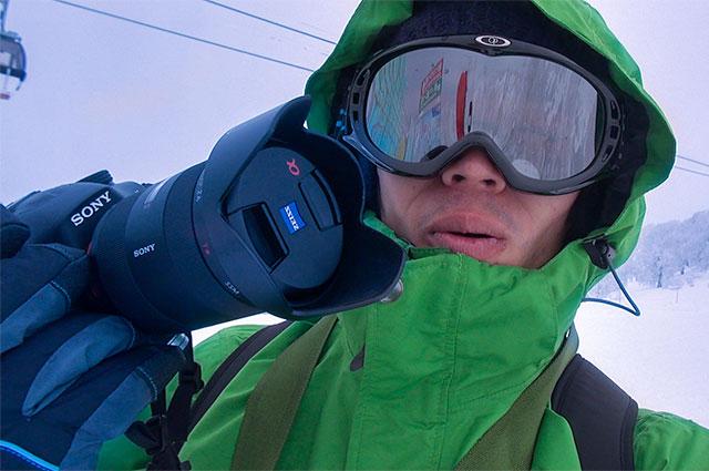 40万円のカメラα99を持ってゲレンデで撮影してみた!なんと気温はマイナス10度