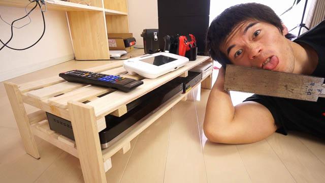 すのこで作る800円の収納棚DIY!ゲーム機器・AV機器を収納してスッキリきれい