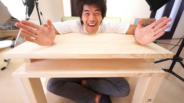 二段式手作りちゃぶ台DIY!廃材を使ってリビング用テーブル作ってみました