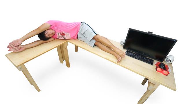 机を拡張!仕事捗るL型ワークデスクの作り方